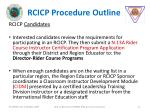 rcicp procedure outline
