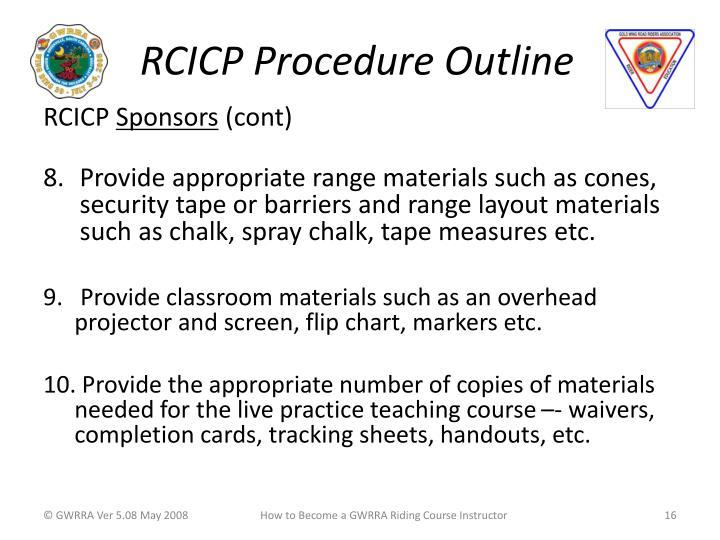 RCICP Procedure Outline