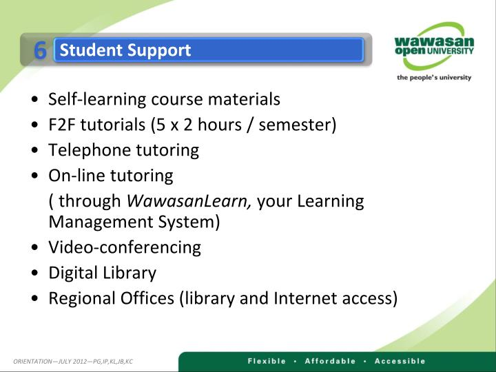 Self-learning course materials