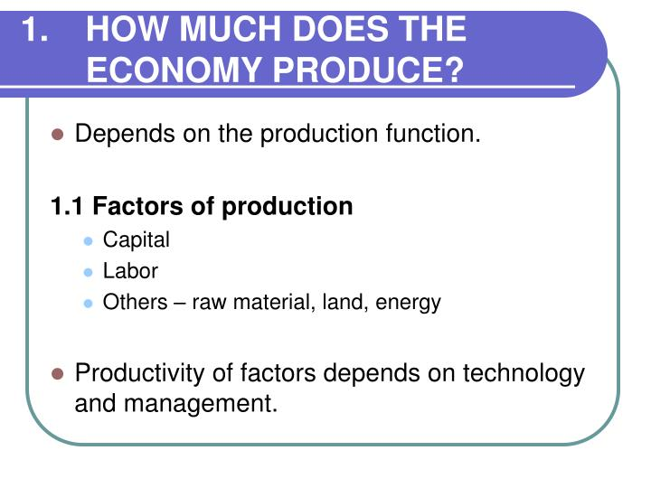 1.HOW MUCH DOES THE ECONOMY PRODUCE?