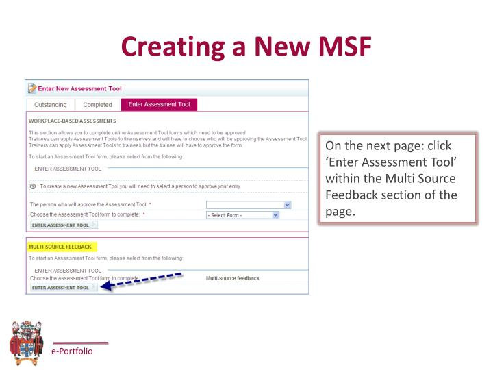 Creating a New MSF