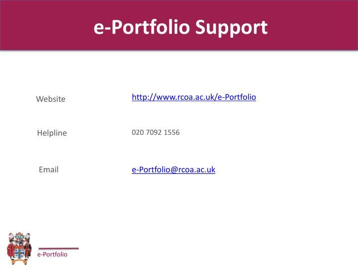 e-Portfolio Support