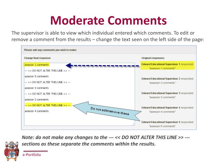 Moderate Comments