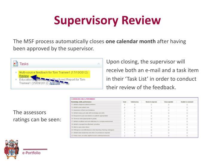 Supervisory Review