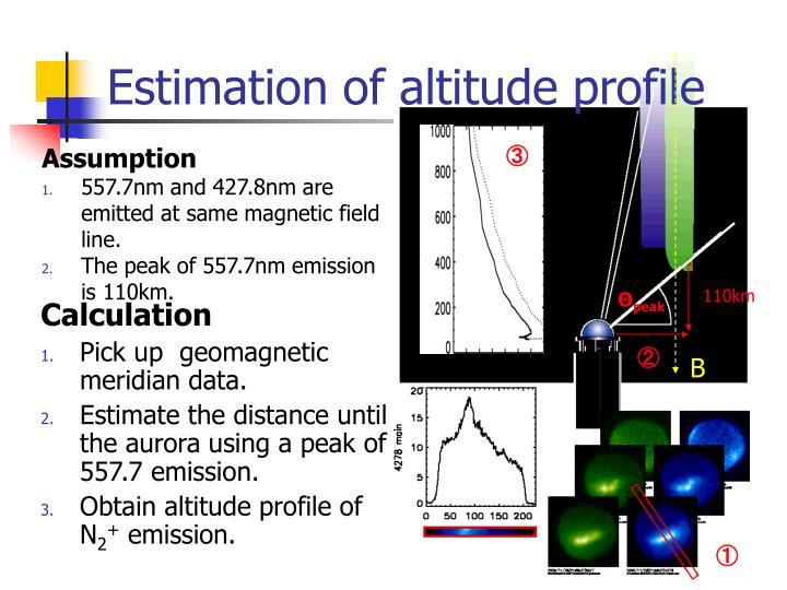 Estimation of altitude profile