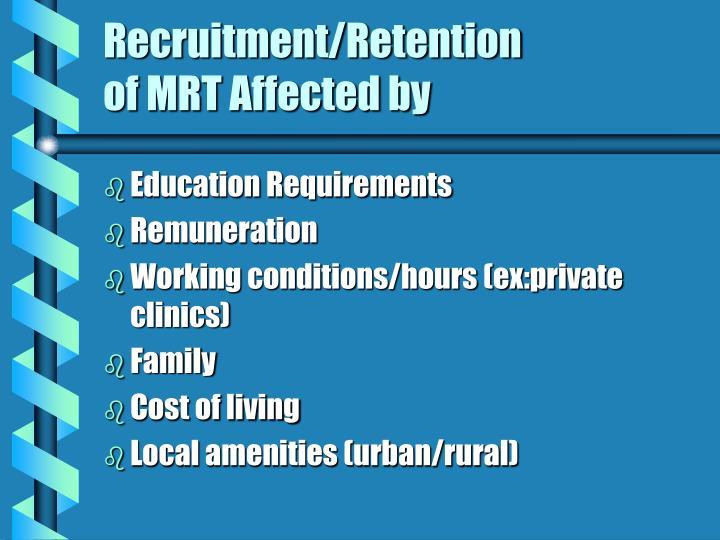 Recruitment/Retention