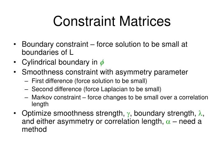 Constraint Matrices