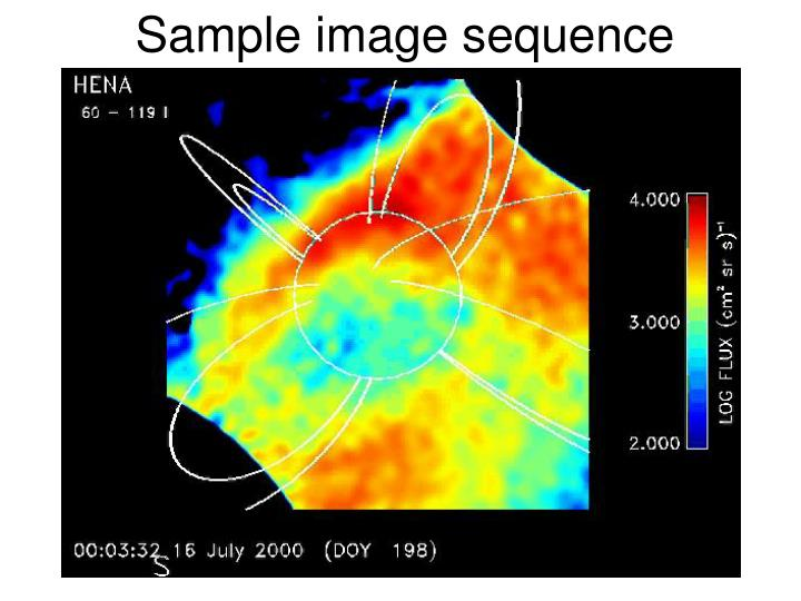 Sample image sequence