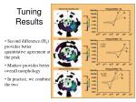 tuning results