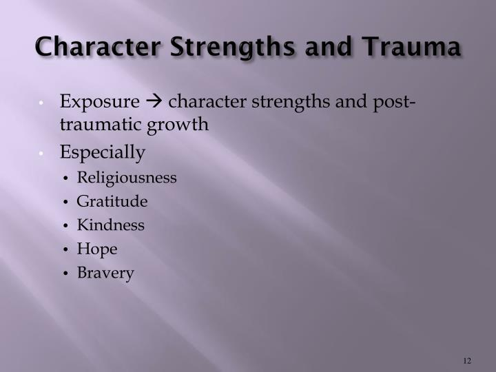 Character Strengths and Trauma