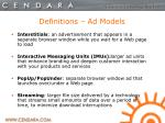 definitions ad models