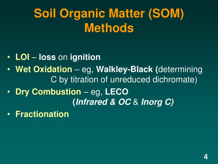 Soil Organic Matter (SOM) Methods