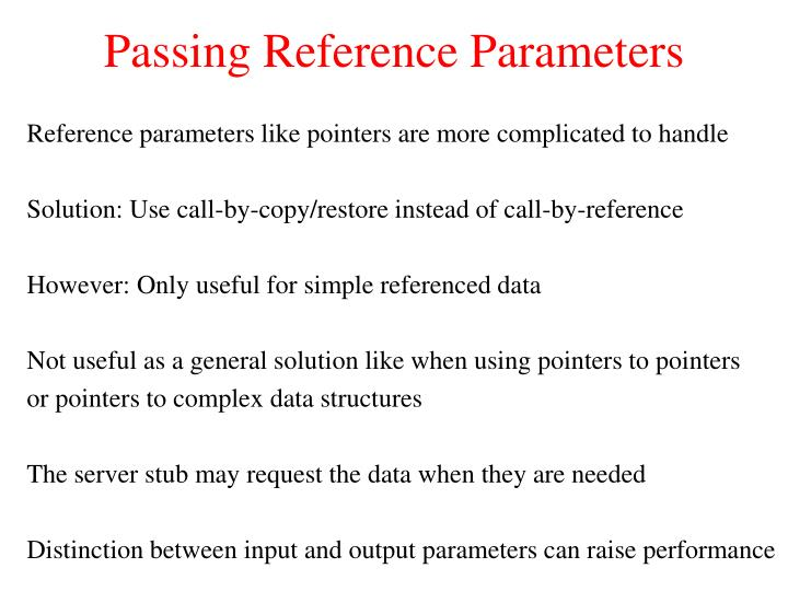 Passing Reference Parameters