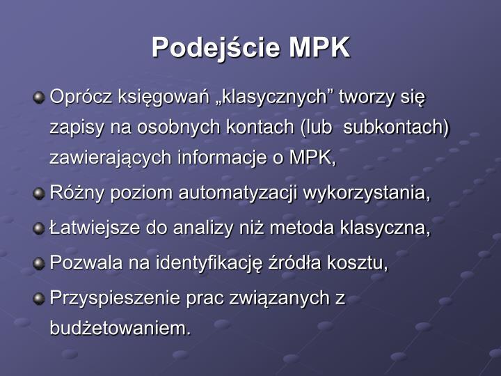 Podejście MPK