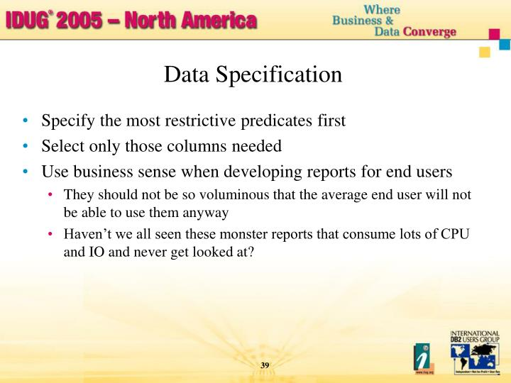 Data Specification