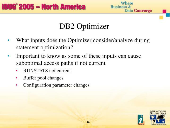 DB2 Optimizer