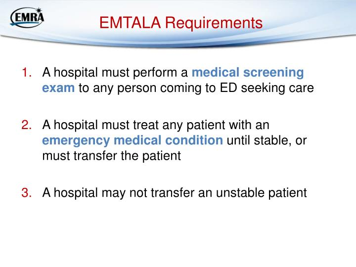 EMTALA Requirements