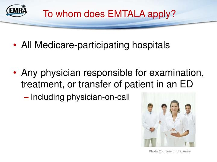To whom does EMTALA apply?