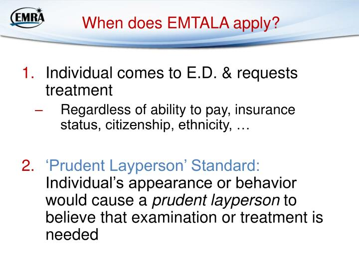 When does EMTALA apply?