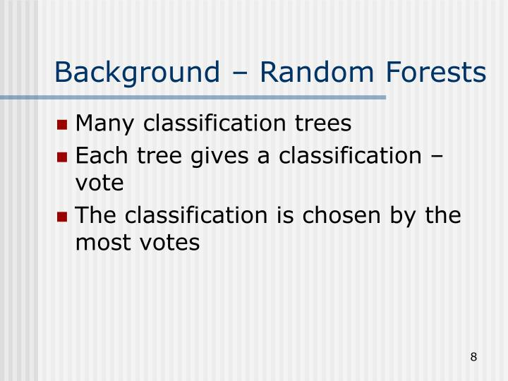 Background – Random Forests