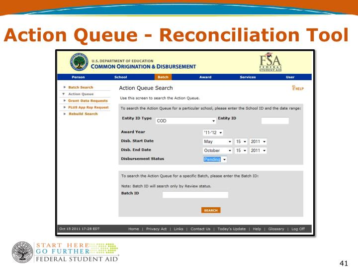 Action Queue - Reconciliation Tool