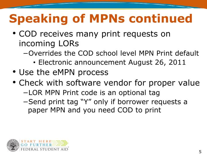 Speaking of MPNs continued