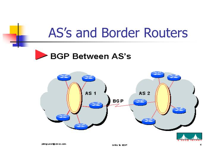 AS's and Border Routers