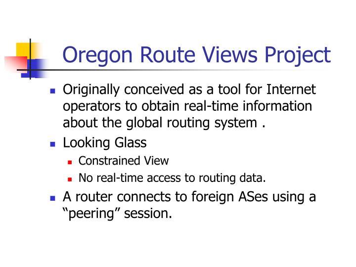 Oregon Route Views Project
