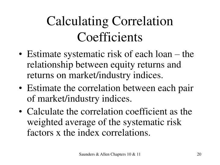 Calculating Correlation Coefficients