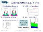 analysis methods e g h gg