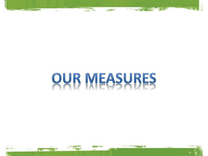 our measures