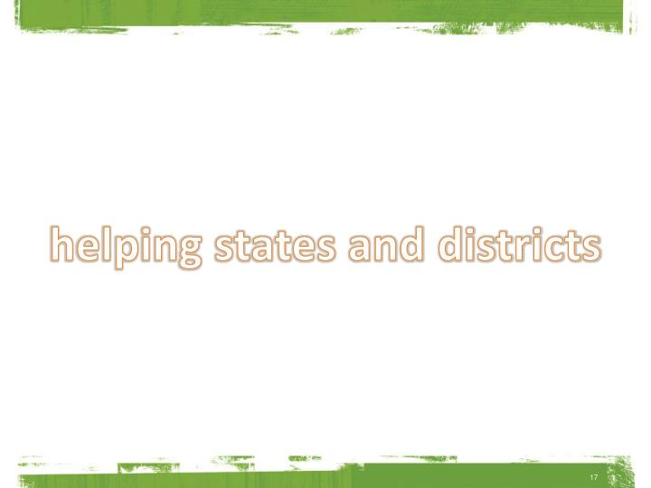 helping states and districts