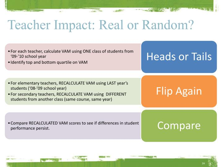 Teacher Impact: Real or Random?