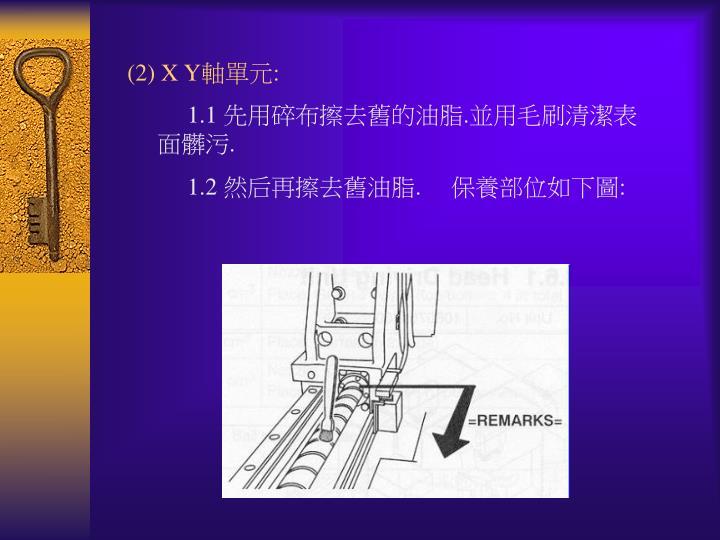 (2) X Y
