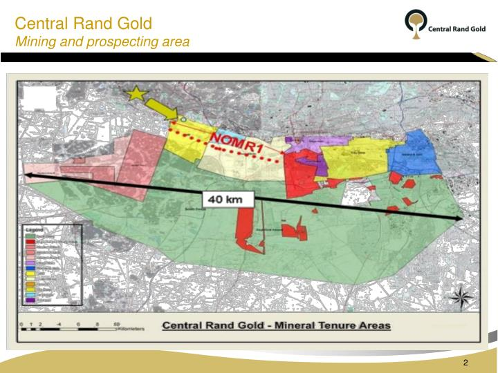 Central rand gold mining and prospecting area