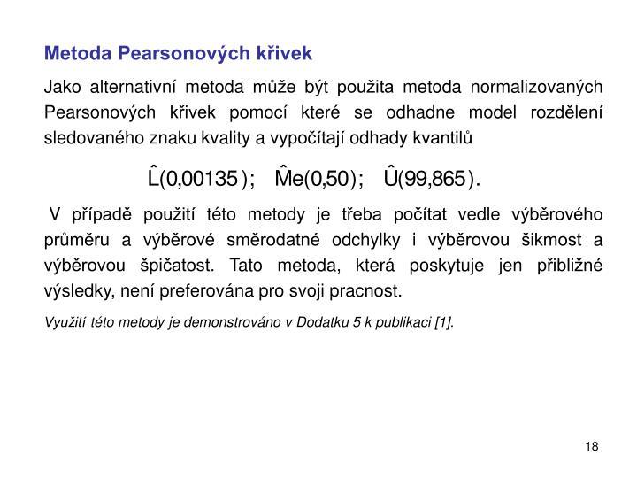 Metoda Pearsonových křivek