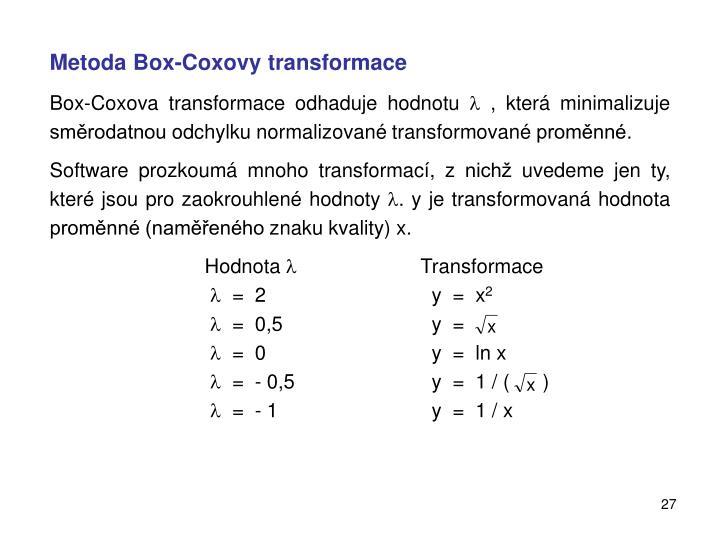 Metoda Box-Coxovy transformace