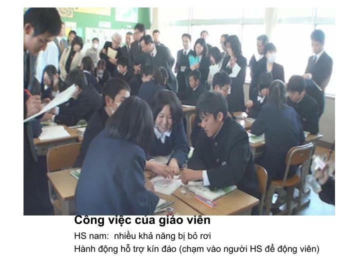 Công việc của giáo viên