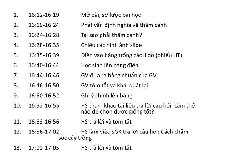 16:12-16:19Mở bài, sơ lược bài học