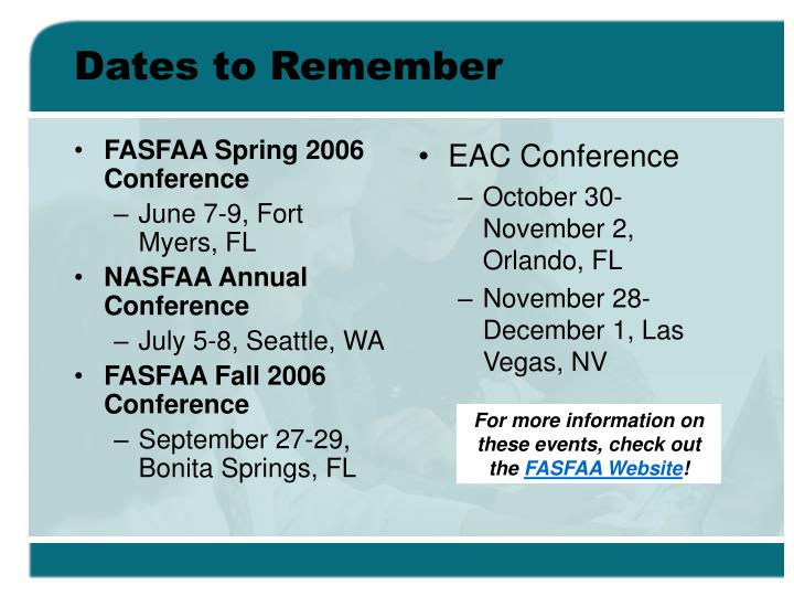FASFAA Spring 2006 Conference