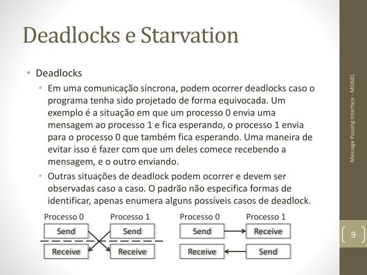 Deadlocks e Starvation