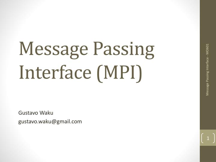 message passing interface mpi