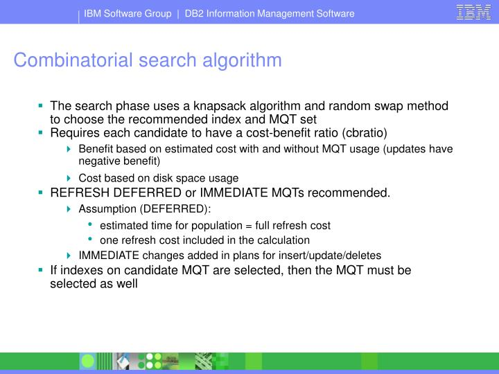 Combinatorial search algorithm
