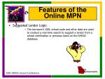 features of the online mpn2