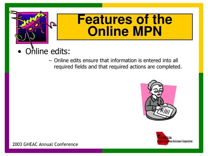 Online edits: