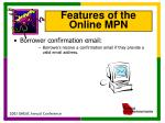 features of the online mpn6