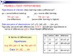 paired t test hypotheses