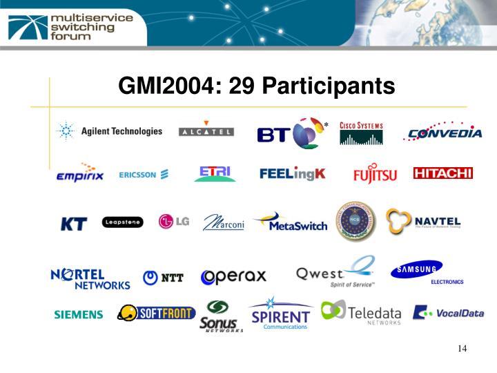 GMI2004: 29 Participants