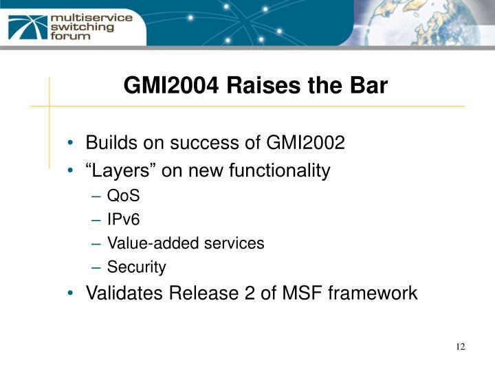 GMI2004 Raises the Bar