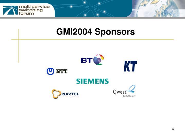GMI2004 Sponsors